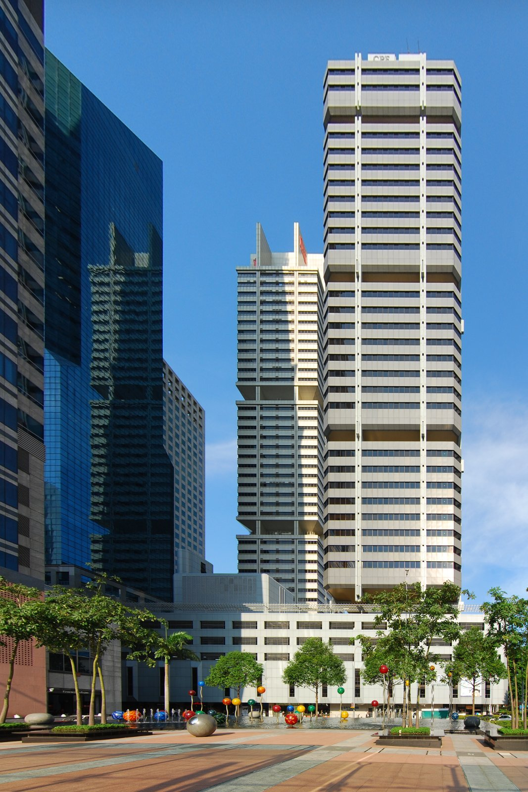 The 29-storey CPF Building was completed in 1976.