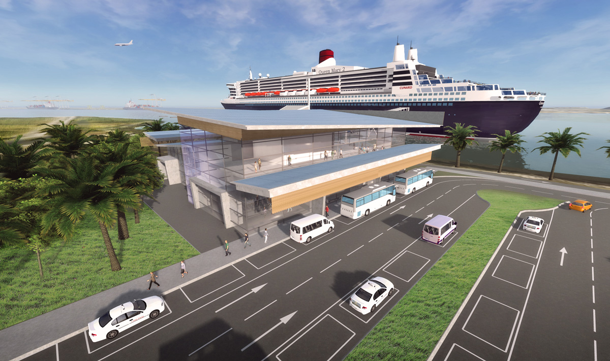 The proposed $150m Brisbane International Cruise Terminal remains under procurement.