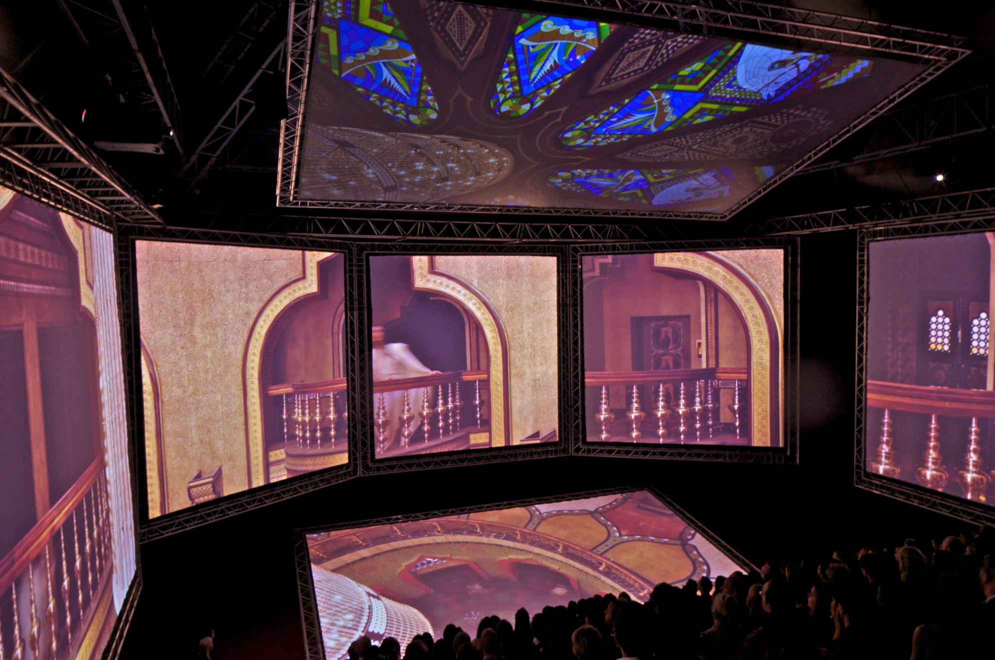 The pavilion would be used to screen of West's debut short film Cruel Summer. Image courtesy of OMA
