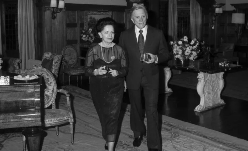The late Mary Fairfax hosting actor Kirk Douglas at the property. Fairwater estate has officially changed hands from media moguls to tech tycoons.