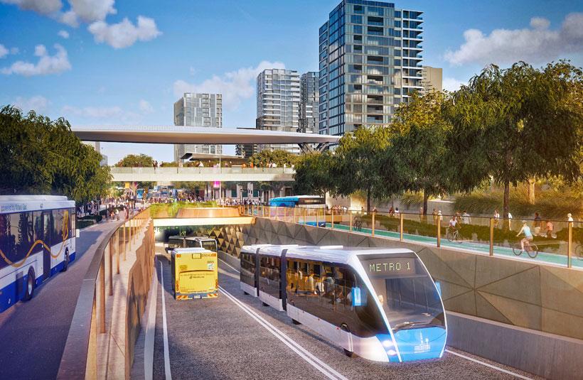 Brisbane Metro development project construction plans