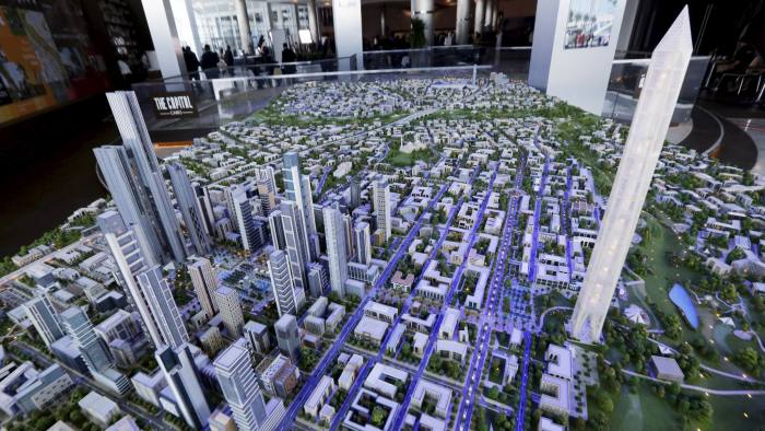 A model of the planned new capital at the Egypt Economic Development Conference