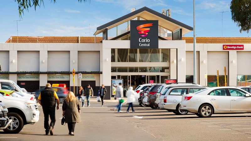 Image of the exterior of Corlo Central shopping centre to illustrate the impact of the coronavirus on discretionary retail spending in shopping centres such as those owned by ASX-listed mall landlord Vicinity Centres.