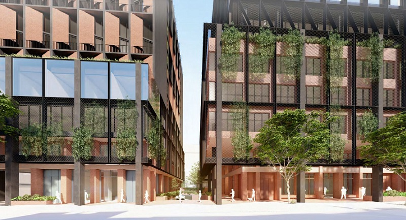 ▲ The forecourt view of 128-144 Wellington Street by Jackson Clements Burrows Architects.