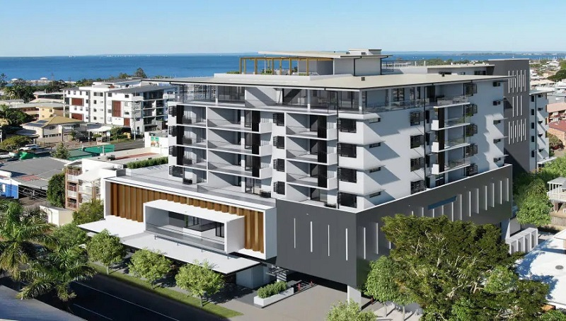 ▲ Ham Brothers development of Wynnum Cinema and apartments is located opposite Waterloo Bay Hotel.