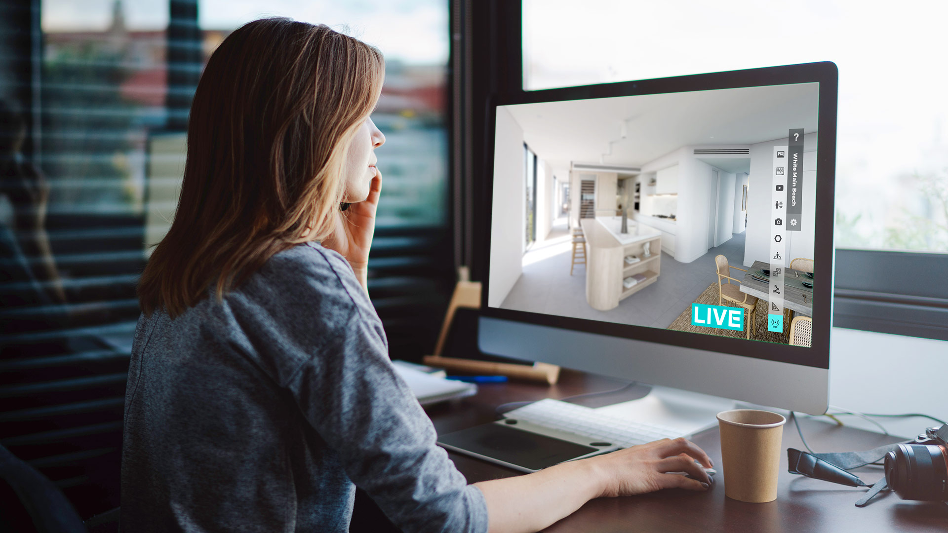 ▲ Realspace Live is a high-value, professional service that enables everyone in the decision process to conduct business from the comfort of their own home.