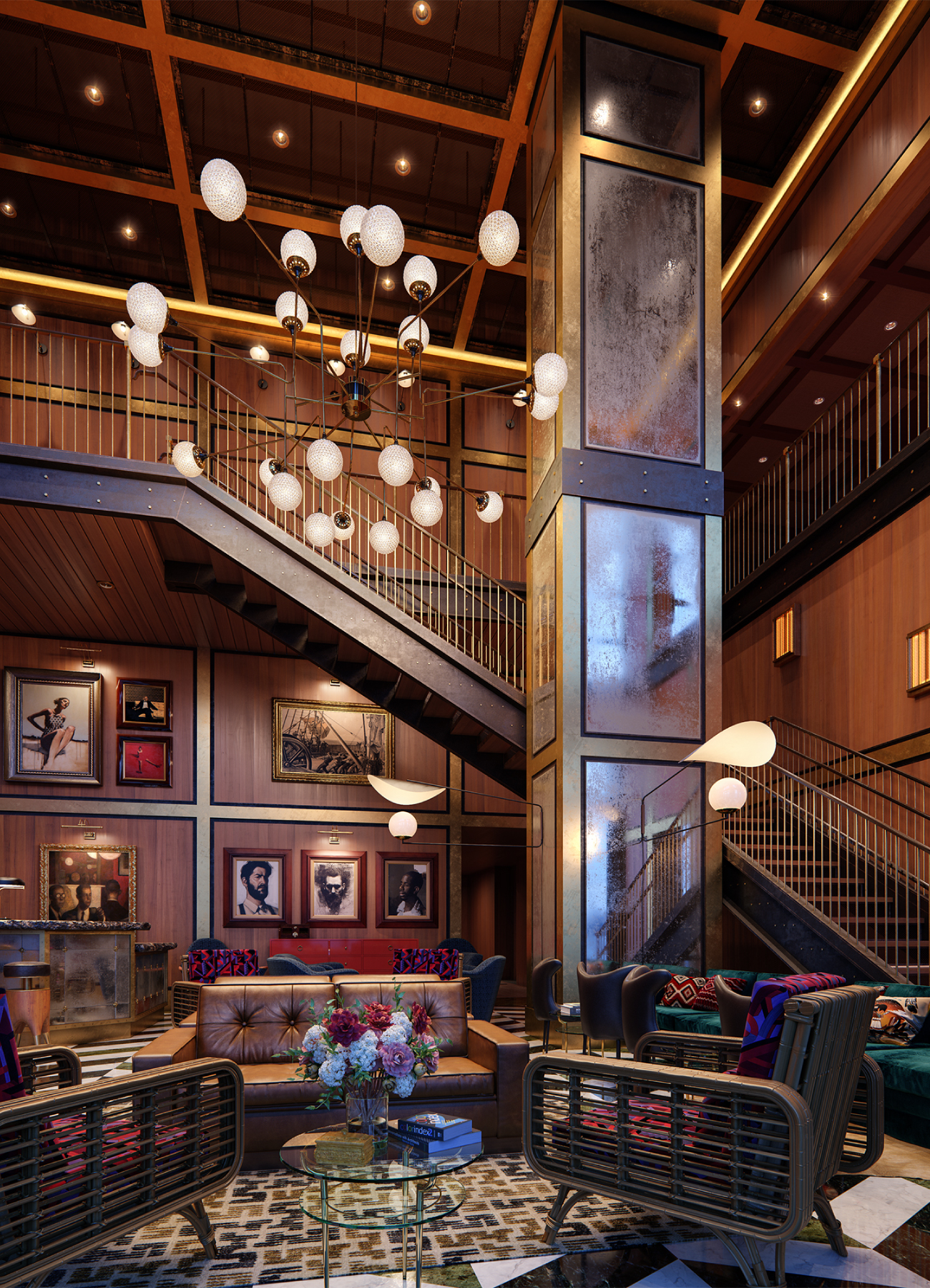 The developer made sure to include club-like amenities such as a double-height lobby, restaurant and wine room – all to encourage people to mingle and meet.
