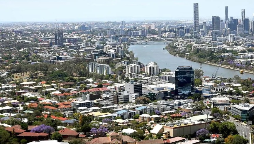 An aerial view of Toowong, six kilometres from Brisbane's CBD