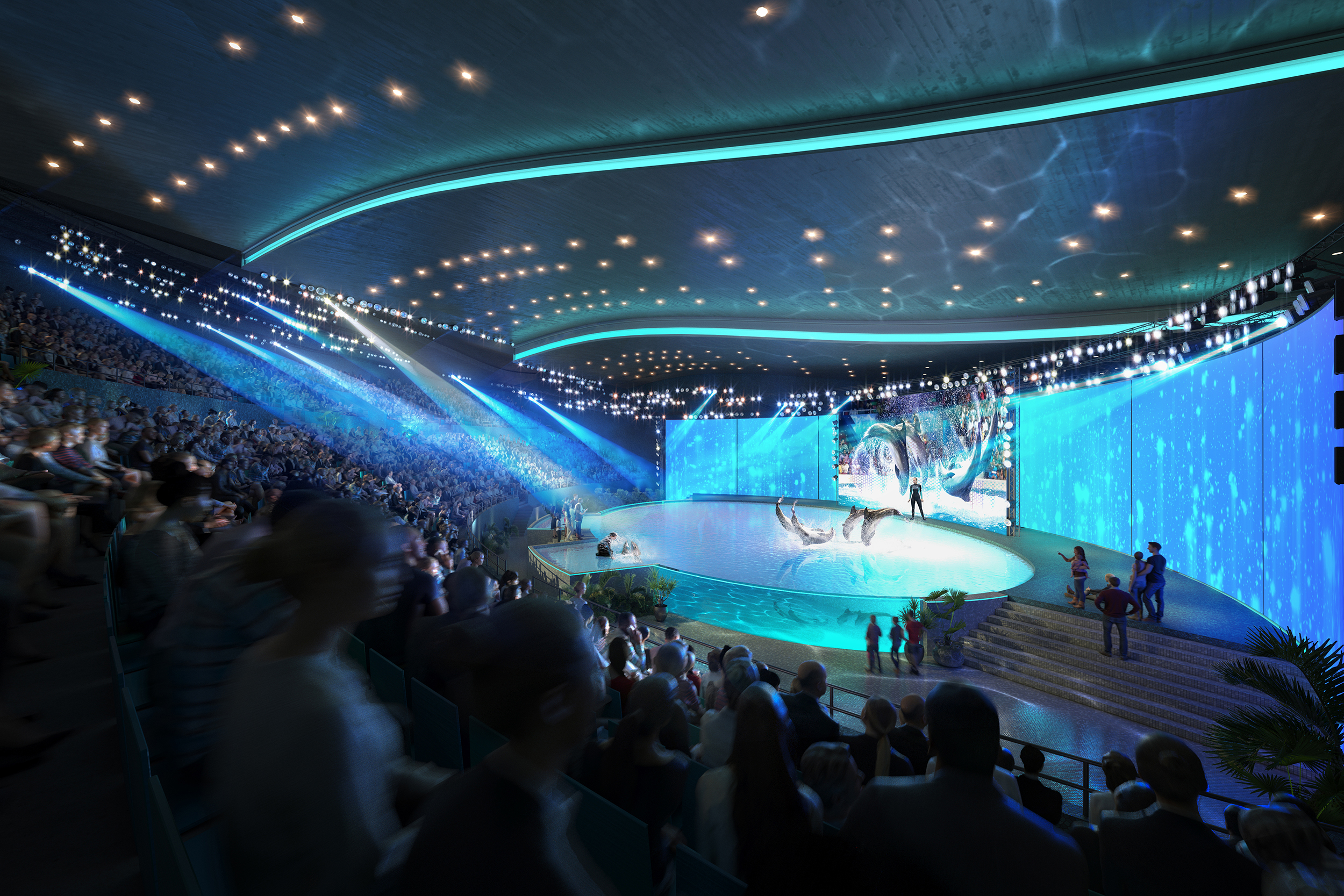 Binyan's hyperrealistic renderings of an aquarium in Beijing.