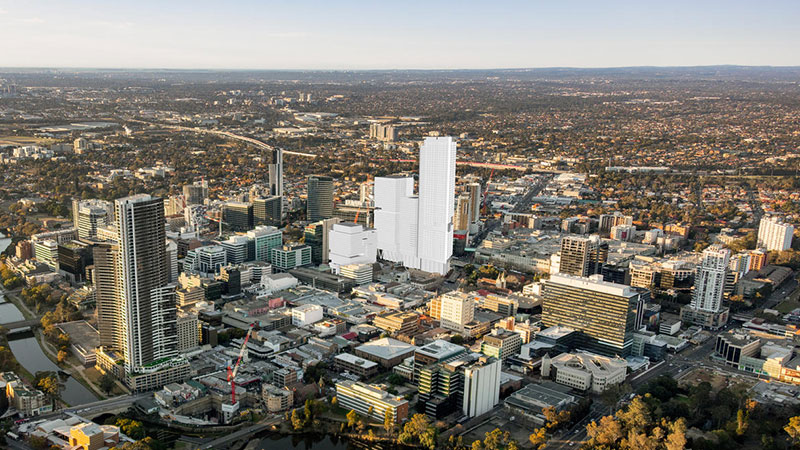 Walker Corporation, led by Lang Walker, won a tender for the major development of Parramatta Square in 2015.