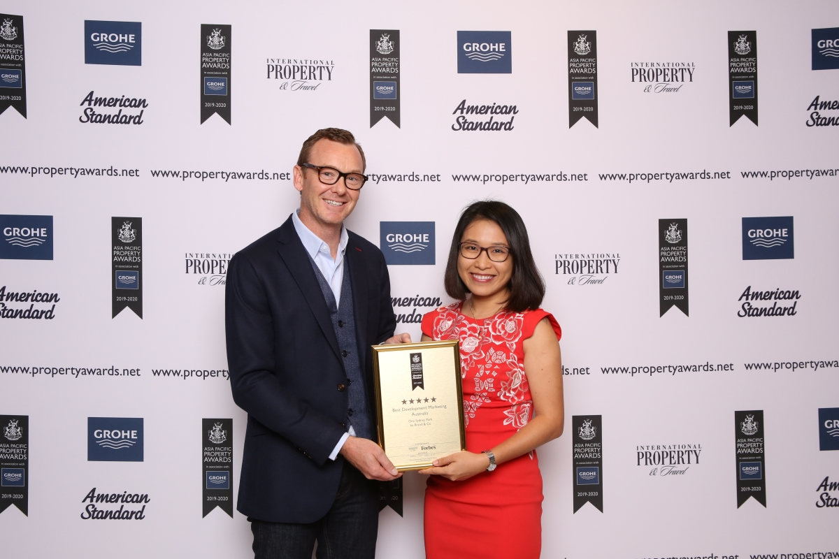 The agency was the only Australian creative agency to also be awarded five stars for its brand development designs of the master-planned community, One Sydney Park.