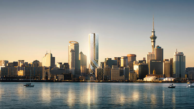 ▲ Hengyi is also behind a 57-level residential tower development in Auckland.