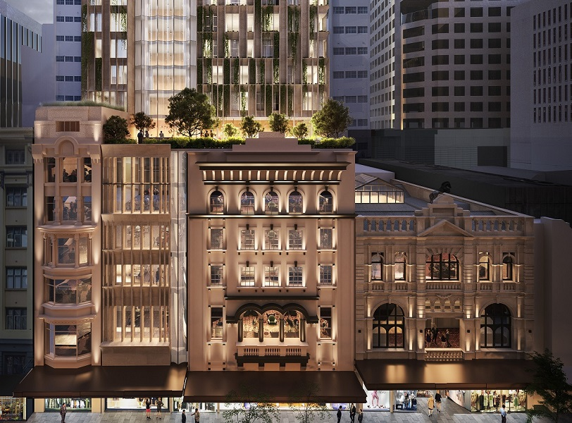 The design for Sydney's City Tattersalls Club at 194-204 Pitt Street.