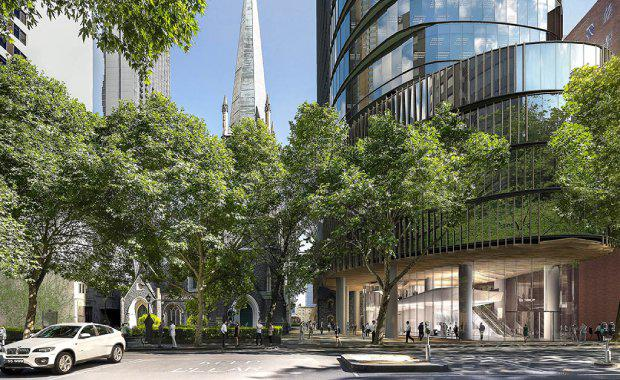 Construction commenced on Charter Hall's $600 million Wesley Place project at 130 Lonsdale Street in central Melbourne in November.