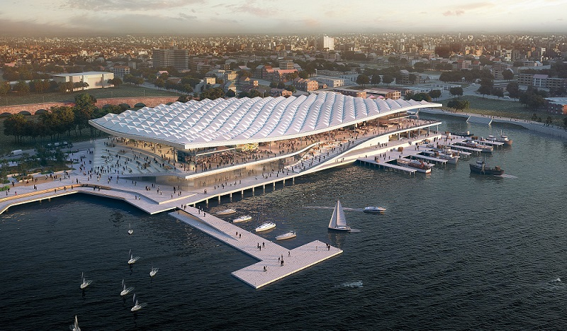 ▲ The new Sydney Fish Markets would relocate the facility 250m along Blackwattle Bay.