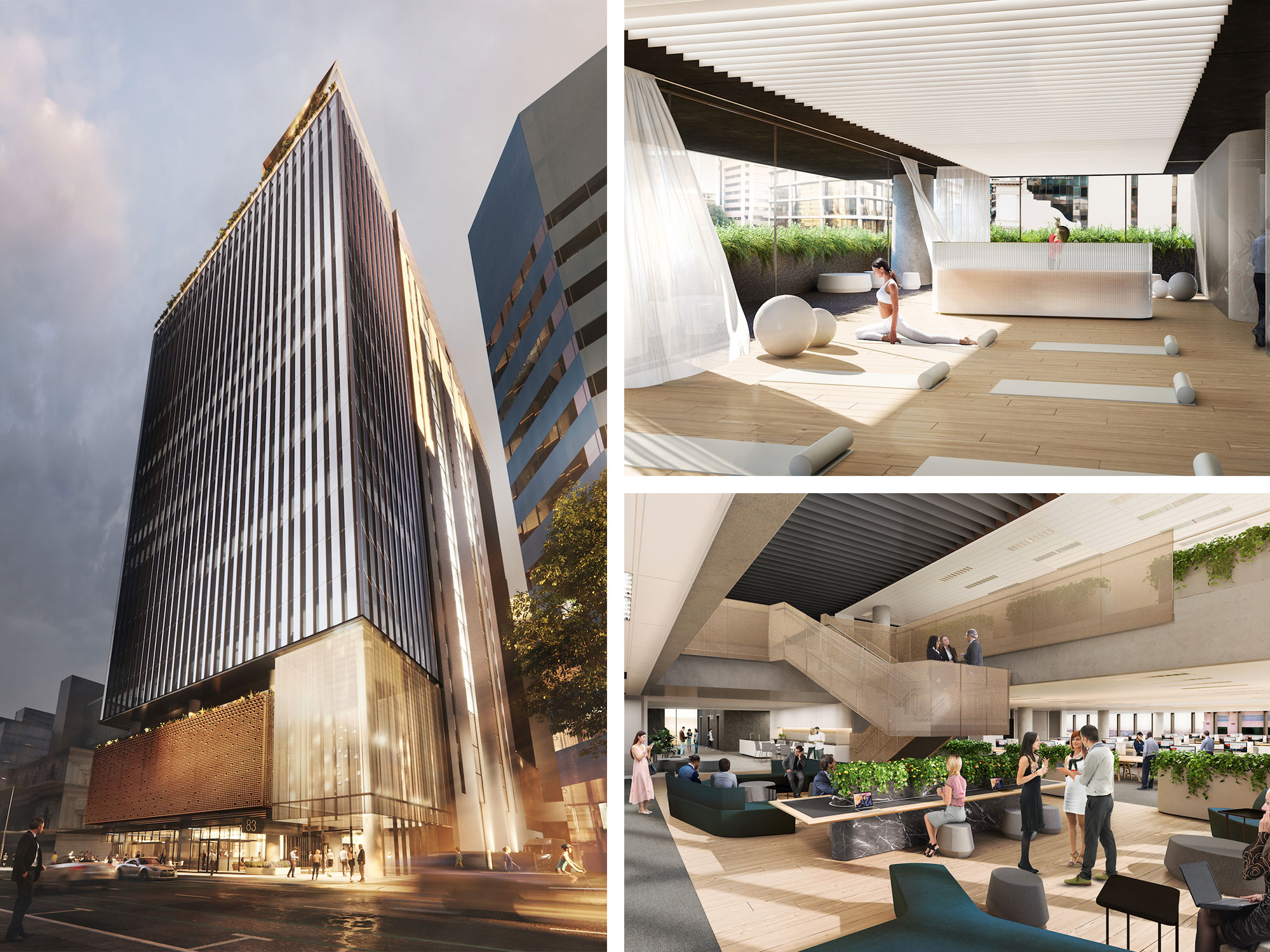 The 17-level tower, designed by Woods Bagot, will deliver 30,000sq m of A-grade office space/