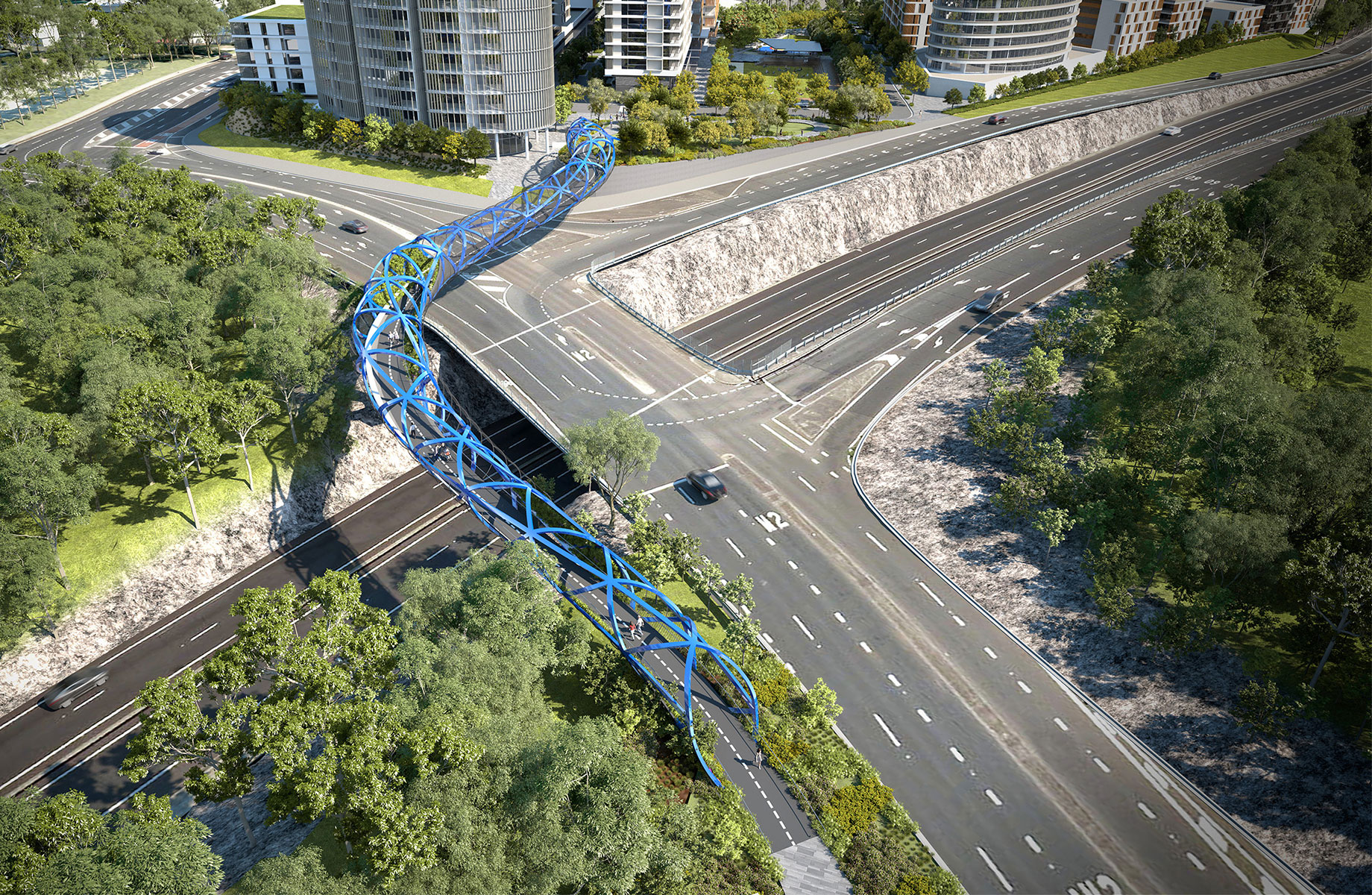 The steel used to create the bridge will be sourced and manufactured entirely in Australia.
