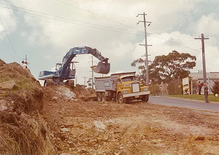 ▲ The early days, a civil engineering and earth moving business in Sydney's Sutherland Shire.