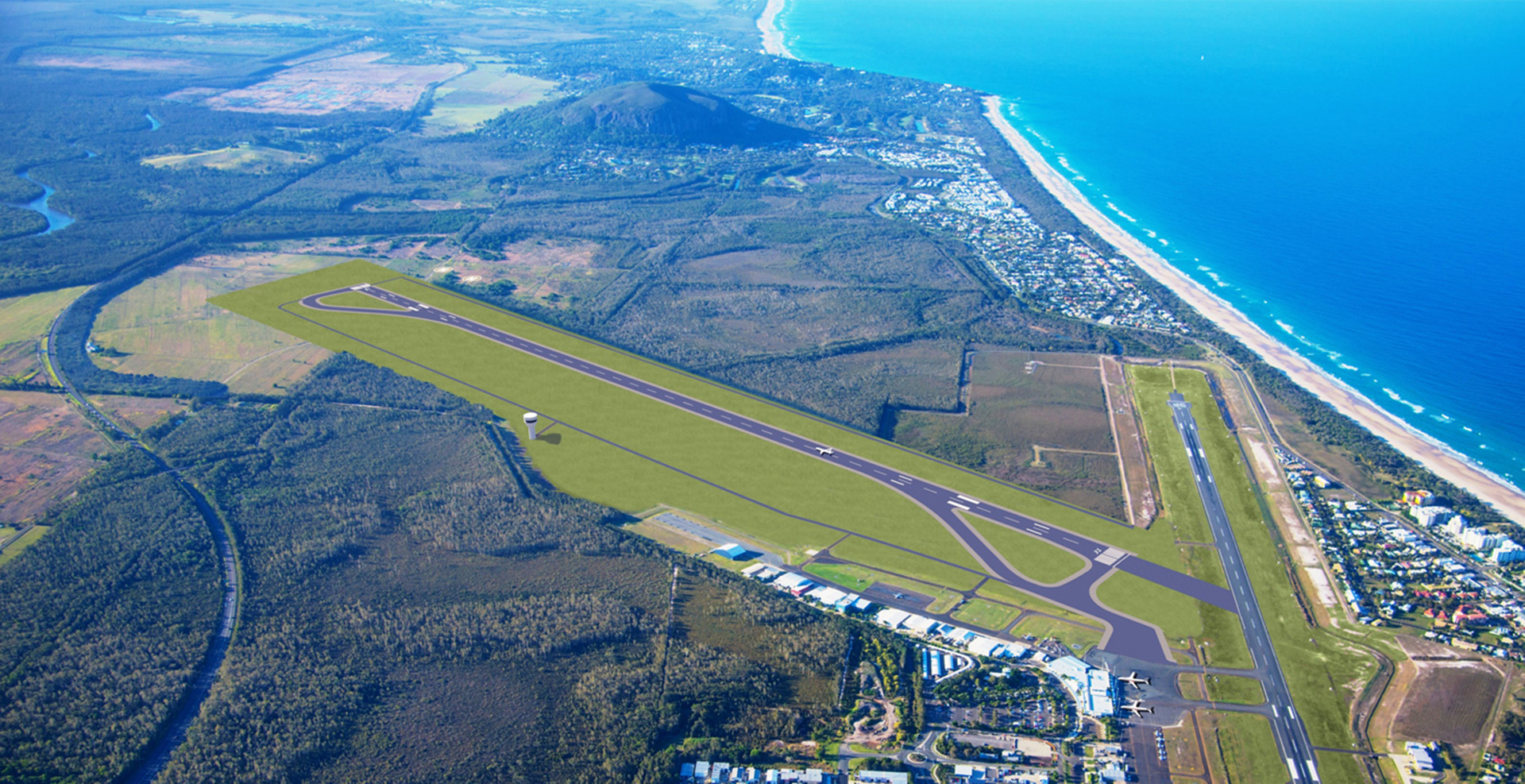 Sunshine Coast Airport runway