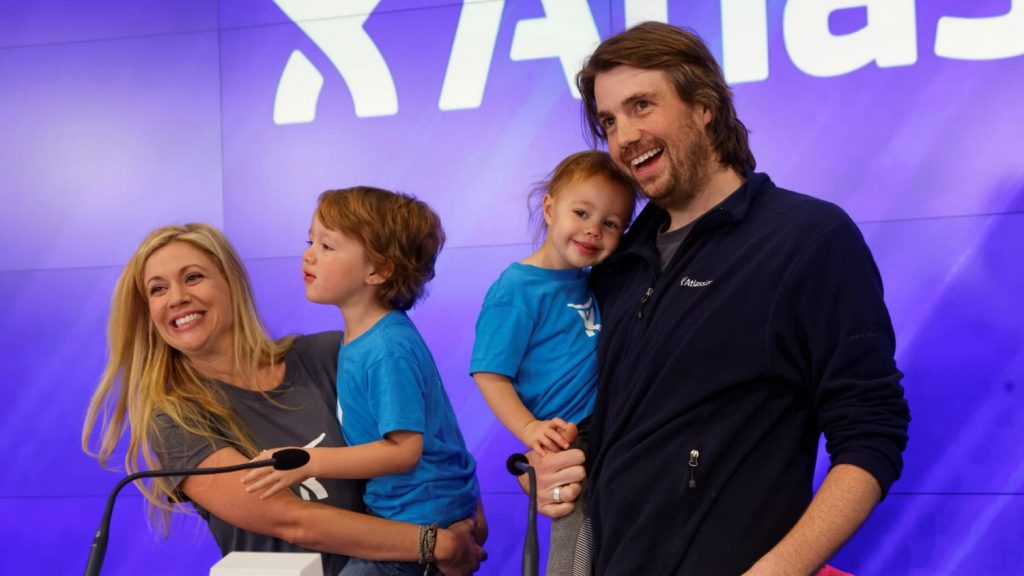 Mike and Annie Cannon-Brookes family