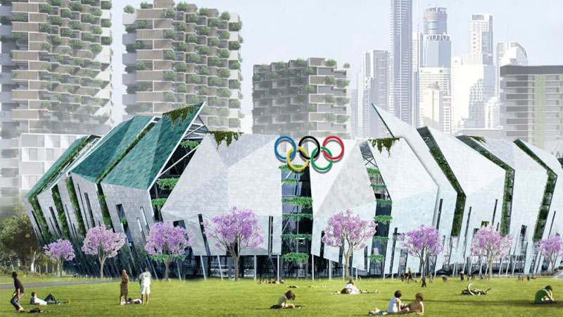 ▲ An early concept of an Olympic stadium in Brisbane. Image: Urbis