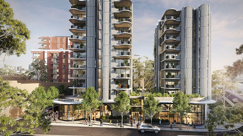 ▲ The combined Arden and Macaulay areas will soon become a thriving community home to thousands of Melburnians, with plans for schools, transport and shopping. Image: Hayball Architects