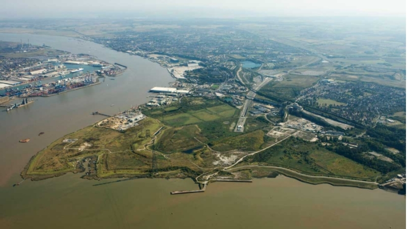 ▲ The London Resort development site comprises 465 hectares of brownfield land at Swanscombe Peninsula in North Kent.