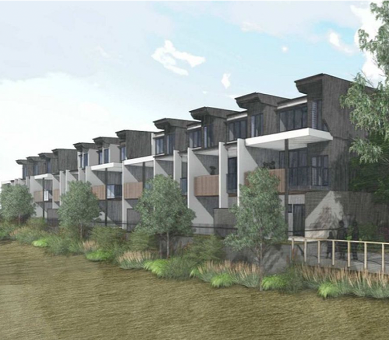 Dennis Family Corporation's proposal for 32 triple-storey townhouses in Nundah.