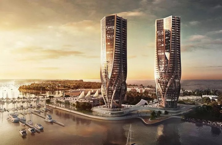 ▲ Sunland's 2015 plans for two 44-storeys towers were scrapped before the masterplan for The Spit was released.