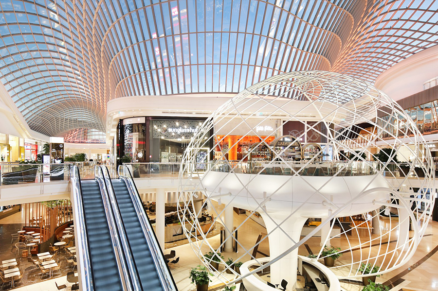 Vicinity's Chadstone Shopping Centre, in Melbourne's south east, and DFO centres recorded valuation gains across the six months.