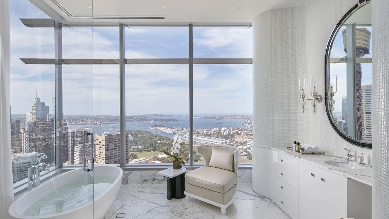 View from 'Australia's most Expensive Apartment' Boyd's Family Residence at the ANZ Tower.