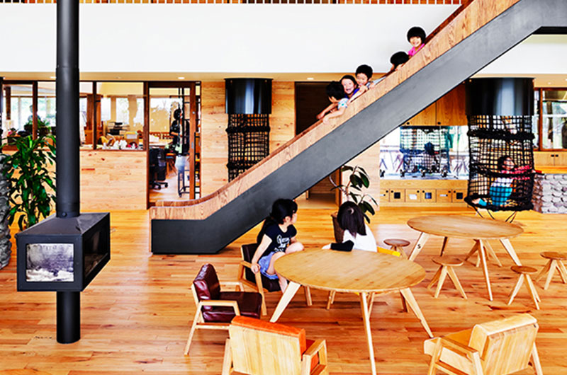 Completed Building Schools: HIBINOSEKKEI / Youji no Shiro / KIDS DESIGN LABO - YM Nursery, Yonago, Japan