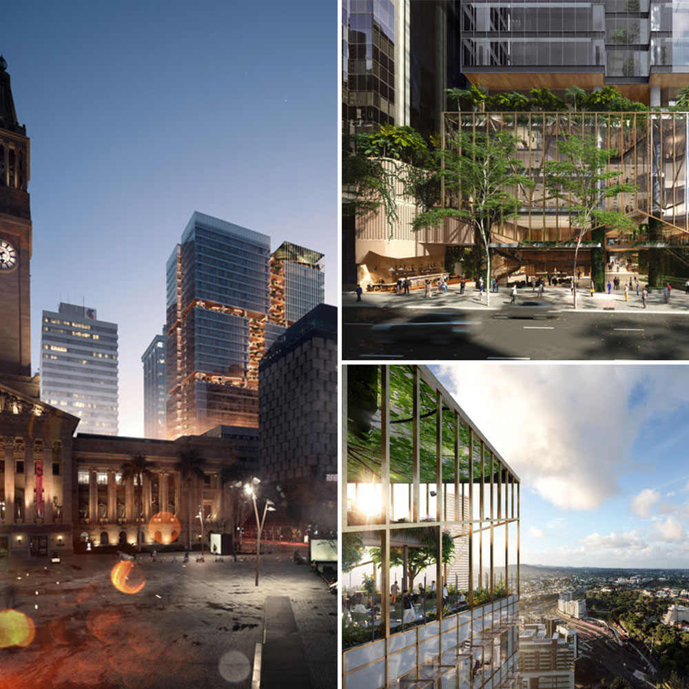 "The $800 million, 32-storey development has been described as a ""city within a building"", spanning an entire block between Ann and Turbot streets. Suncorp will lease 39,600sq m, or 66%, of the tower."