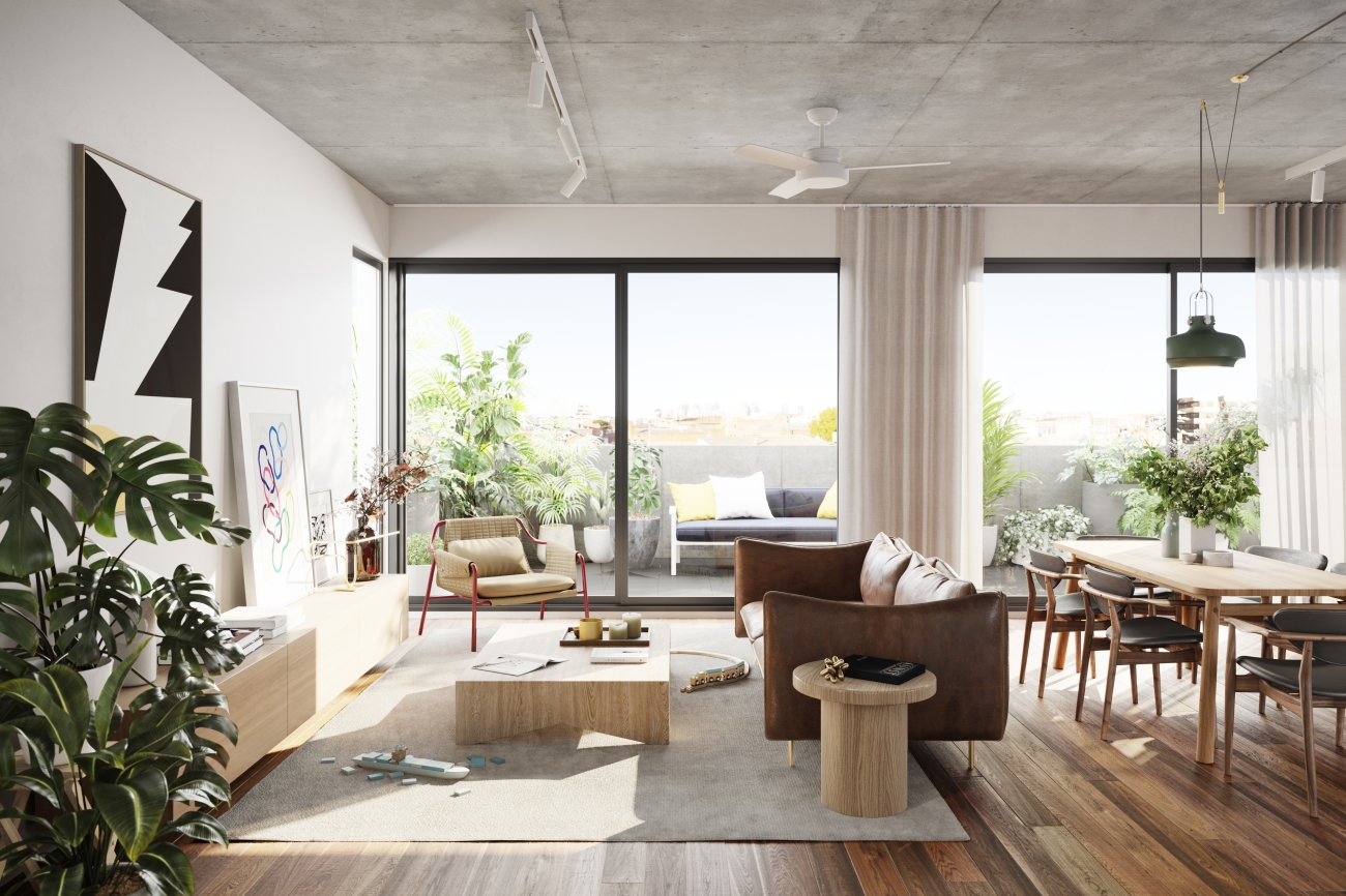 Breese Street is set to exceed a 7.5 star average energy rating and requiring no split systems for heating or cooling thanks to thermally efficient hydronic heating and ceiling fans.