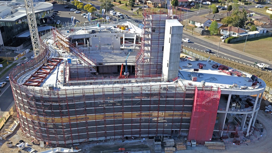 Construction is underway on the new Western Sydney Performing Arts Centre in Rooty Hill.