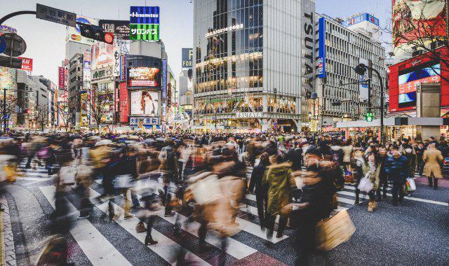 Urbanisation in Tokyo street