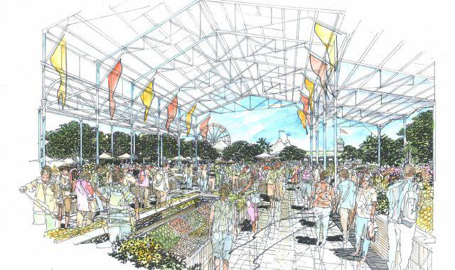 Historic regeneration project for brisbane showgrounds for Pool show rna showgrounds