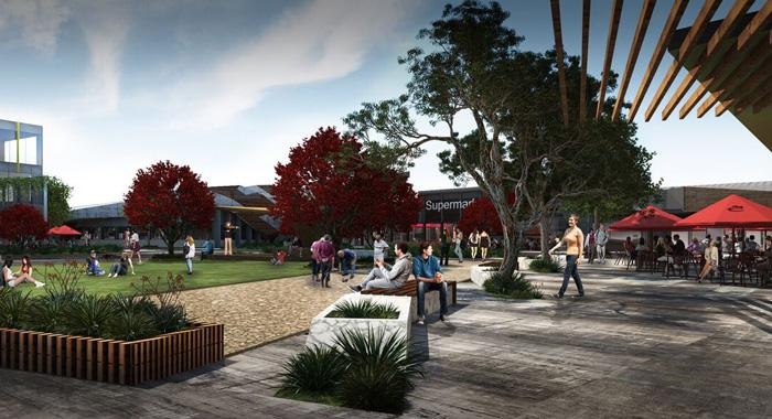 The 160 Ha St Germain Village urban development project.  Render credit: ClarkeHopkinsClarke